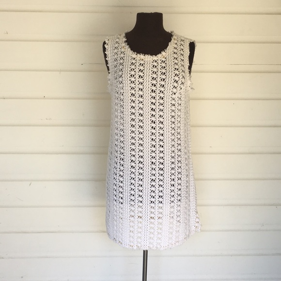 Free People Dresses Beach Fp Beach White Crochet Cover Up Poshmark